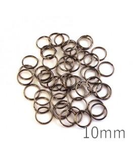 anneaux brisés gunmetal 10mm