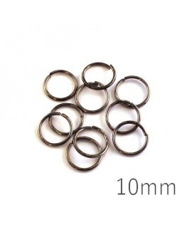 anneaux brisés 10mm gunmetal