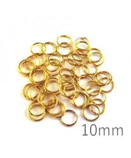 anneaux brisés dorés 10mm