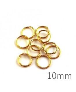 anneaux brisés 10mm dorés
