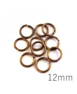 anneaux brisés 12mm bronze