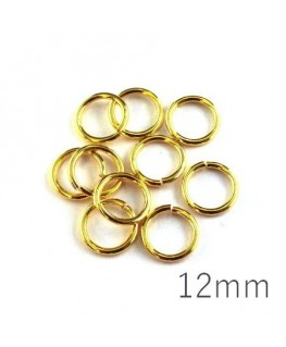 anneaux brisés 12mm dorés