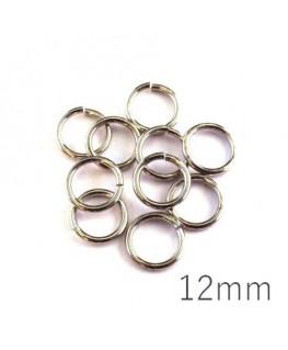 anneaux brisés 12mm vieil argent