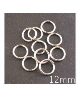 anneaux brisés 12mm argentés