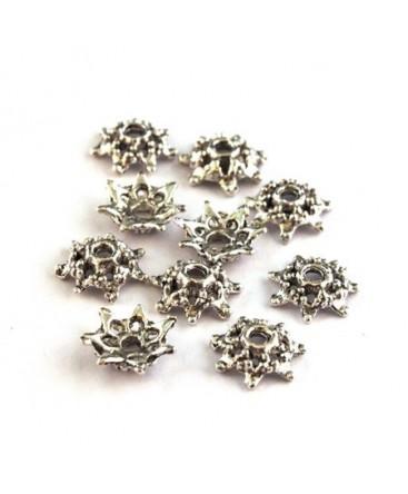 perles coupelles en métal