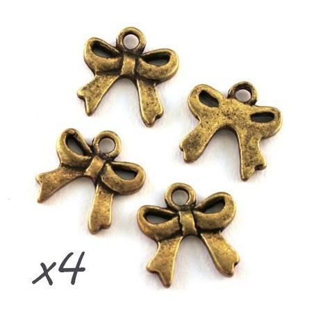breloque noeud bronze
