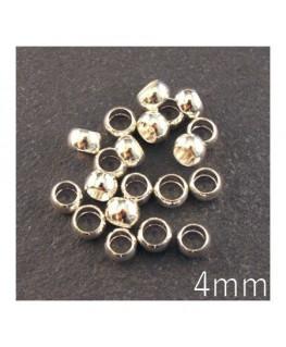 perles à écraser 4mm argenté