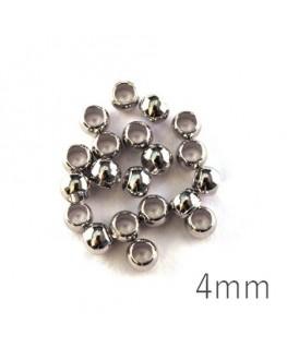 perles à écraser 4mm vieil argent