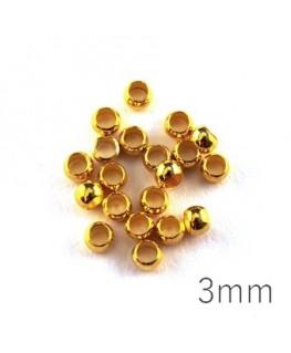 perle à écraser 3 mm doré x50