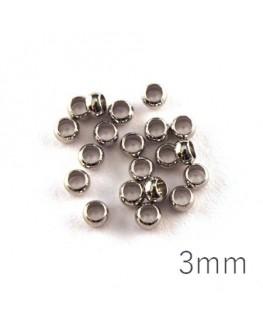 perle à écraser 3 mm vieil argent x20