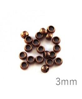 perle à écraser 3 mm cuivre x50