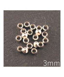 perle à écraser 3mm argenté
