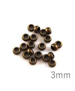 perle à écraser 3 mm bronze x20