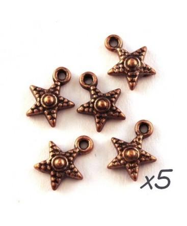 Breloque étoile cuivre 12mm