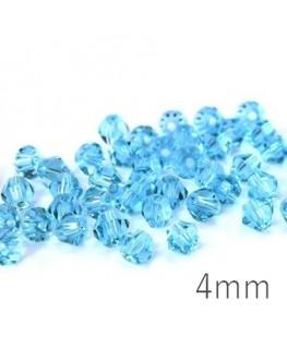 Perle toupie verre 4mm light turquoise x50
