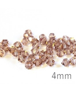 Perle toupie verre 4mm cristal shadow x50