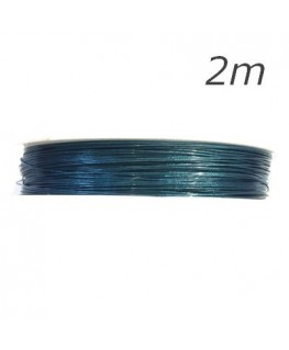 Fil câblé bleu turquoise pour bijoux