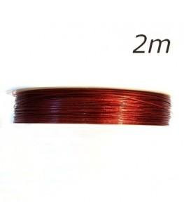 Fil câblé rouge pour bijoux 2m