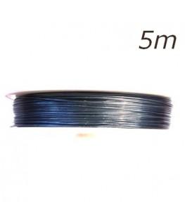 Fil câblé fin bleu pour bijoux