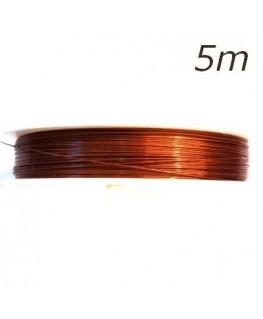 fil câblé orange pour bijoux