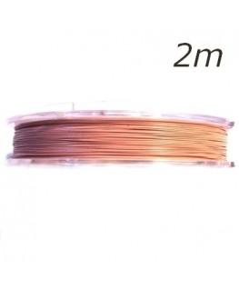 Fil câblé pour bijoux rose pastel x5m