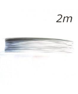 Fil câblé pour bijoux blanc pastel 2m