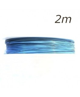 Fil câblé pour bijoux bleu pastel