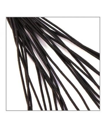 fil élastique gainé 1mm noir