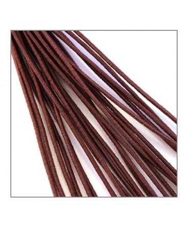 fil élastique gainé 1mm marron