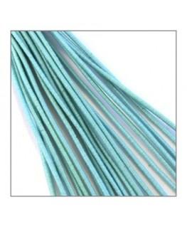 fil élastique gainé 1mm turquoise