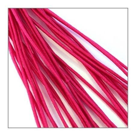 fil élastique gainé 1mm fuchsia