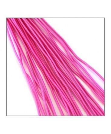 fil élastique gainé 1mm rose