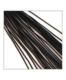 fil élastique gainé fin noir