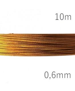 fil câblé doré