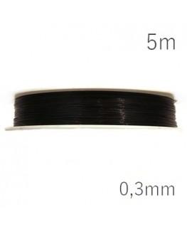 fil cablé extra fin noir