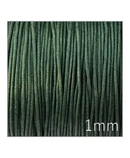 cordon coton ciré vert foncé