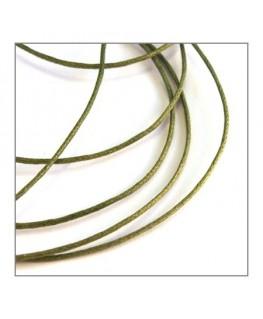 cordon coton ciré 1mm vert clair