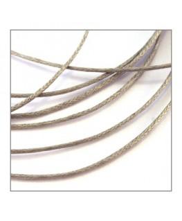 cordon coton ciré 1mm gris clair