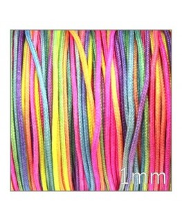 fil nylon tressé multicolore 1mm
