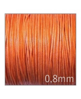 lacet coton ciré 0,8mm orange