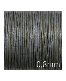 lacet coton ciré gris foncé