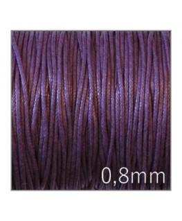 lacet coton ciré violet