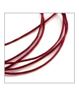 lacet coton ciré 0,8mm bordeaux