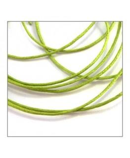lacet coton ciré vert anis 0,8mm