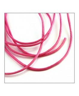 cordon coton ciré rose