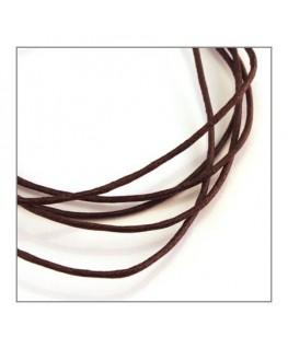 cordon coton ciré 1,2mm marron