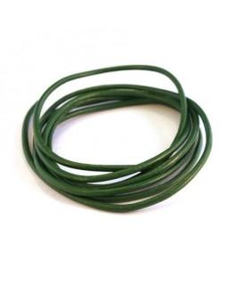 cordon cuir 2mm vert
