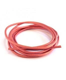 cordon cuir 2mm rose clair