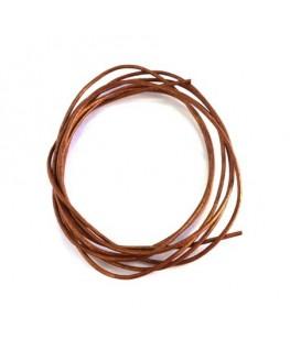 cordon cuir 1mm cuivre