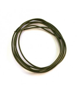 cordon cuir 1mm vert kaki
